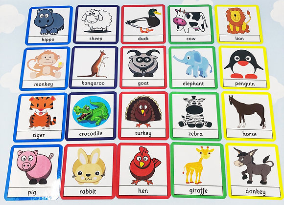 Zoo and Farm Animal Flash Cards