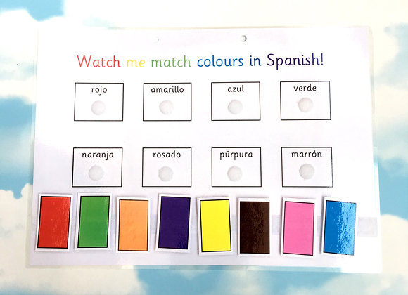 Spanish Colours Learning Sheet