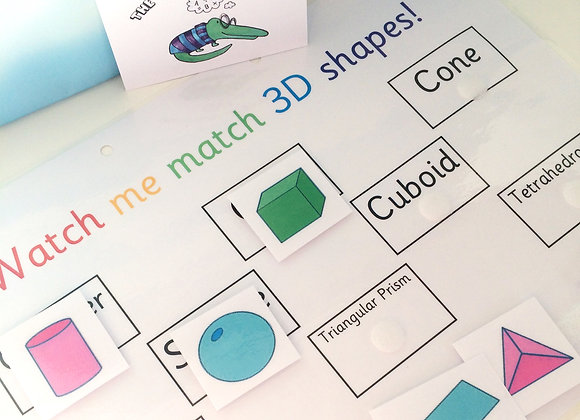 3D Shapes Learning Sheet