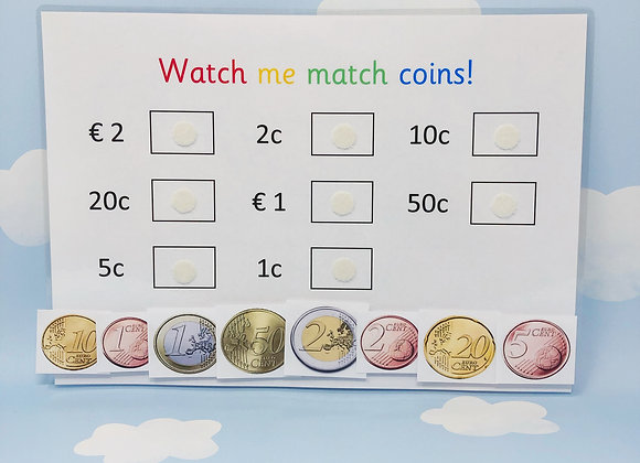 Euro Money - Learn Coins - Learning Sheet - Money - Maths Games