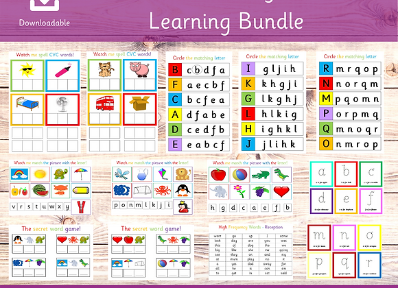 Phonics Beginners Learning Bundle - Speed Sounds - Phonics activities