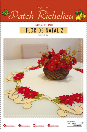 Patch Richelieu - Modelo 32 - Flor de Na