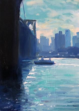 Good Morning East River Bridge