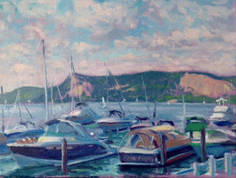 AT THE SHATTEMUC YACHT CLUB, OSSINING
