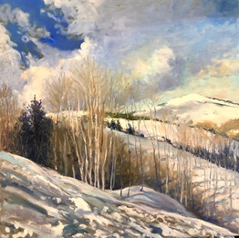 The Snowy Utah Hil