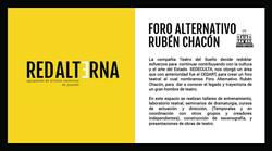Foro Alternativo Rubén Chacón