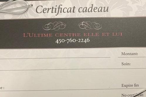 Certificat cadeau 200$