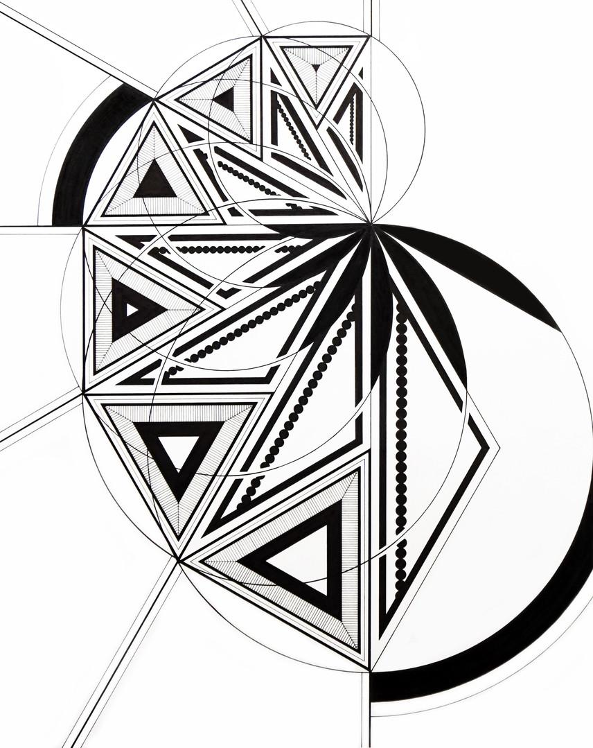 "Metamorphasis (Changing Shapes)  | 2020 | 16""x20"" | Ink"
