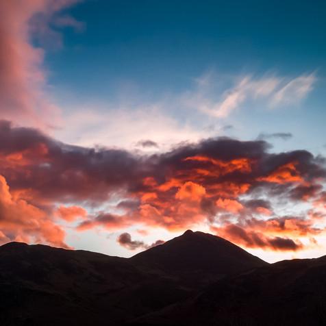 Causey Pike Sun set