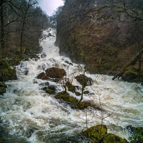 Lodore Falls + heavy rain