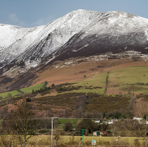 Skiddaw with new snow
