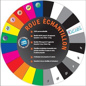 roue de la chance, roue de la fortune, roue de loterie, échantillon