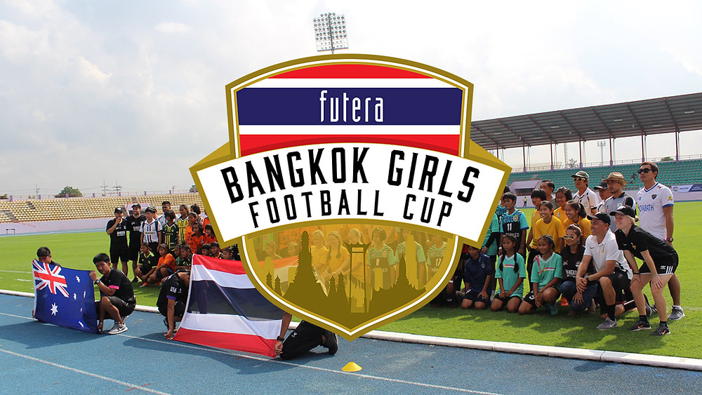 The official logo, presenting the 2019 Futera Bangkok Girls Cup