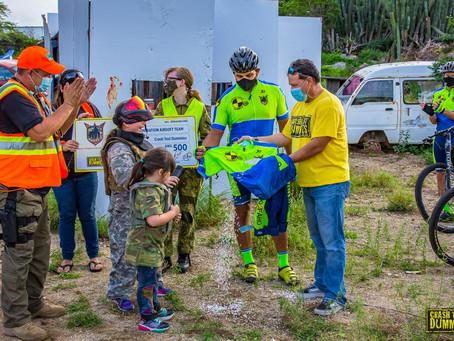 Bautismo emocionante di Crash Test Dummies Cycling Club su uniform.