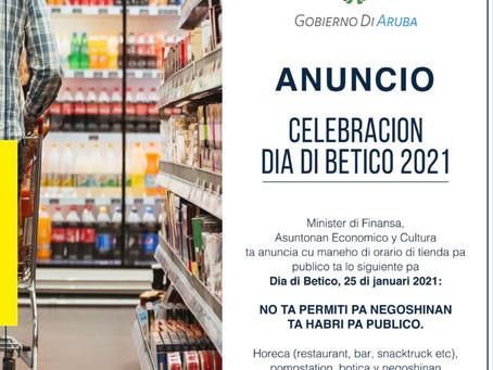 Minister Xiomara Maduro ta anuncia maneho di orario di tienda pa publico pa Dia di Betico