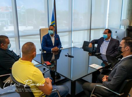 Minister Chris Romero a reuni cu tiradornan di pisca