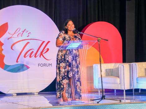 "Minister Xiomara Maduro durante di ""Women Let's Talk Forum"""