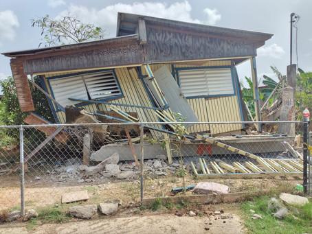 Temblor na Puerto Rico 4.9 awe mainta 09:54