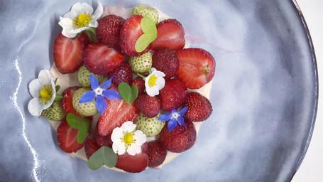Fresas y Agua de Koji.