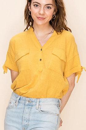 Mandarin Pocket Pullover