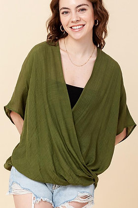 Crossover Poncho Blouse