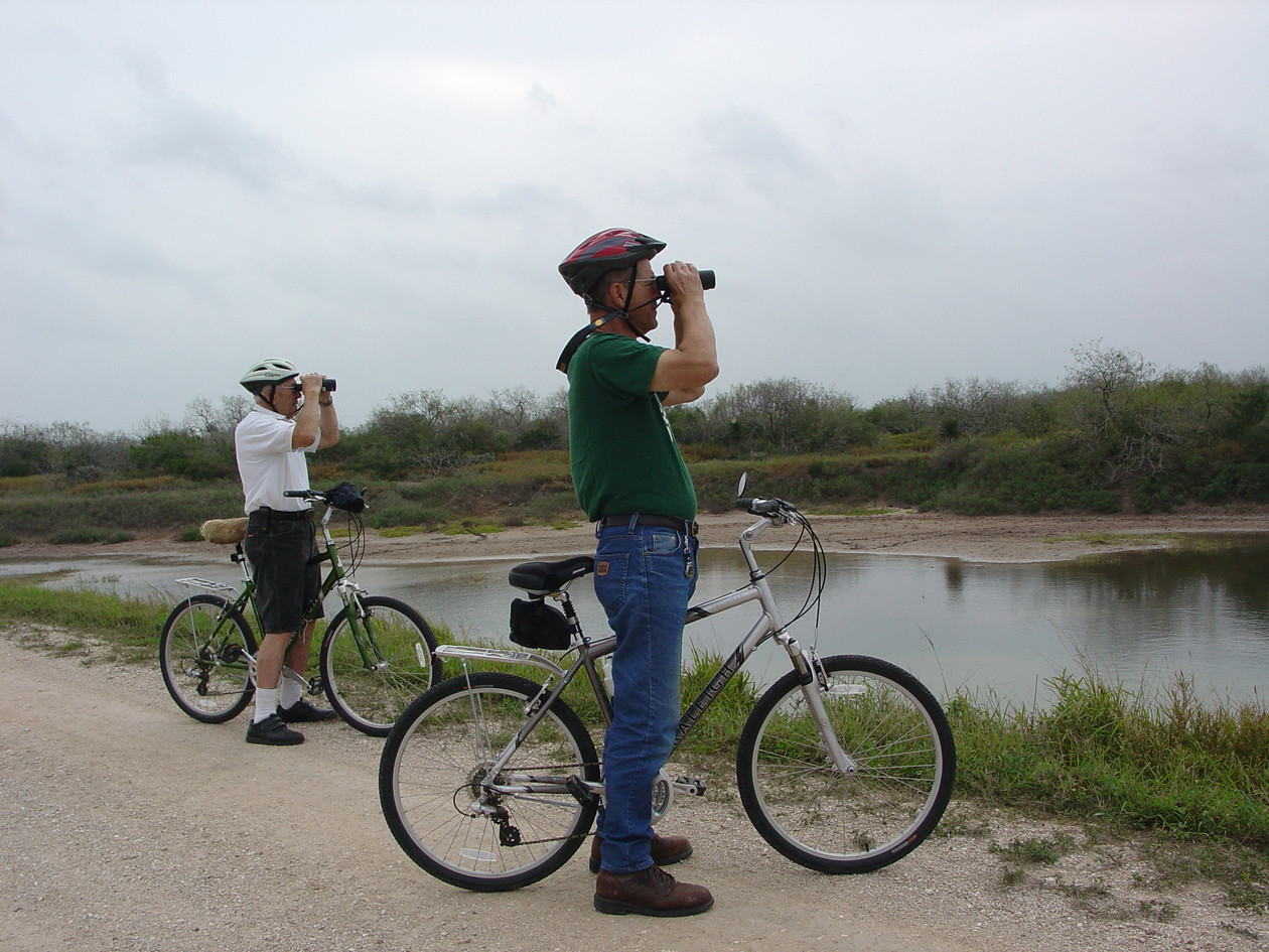 visitors birding from bikes.JPG