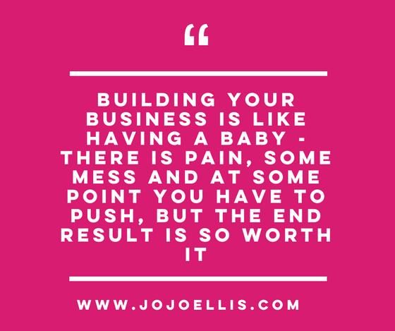 Why building your business is like having a baby