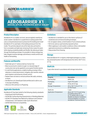 AeroBarrier X1 Product Data Sheet_Page_1