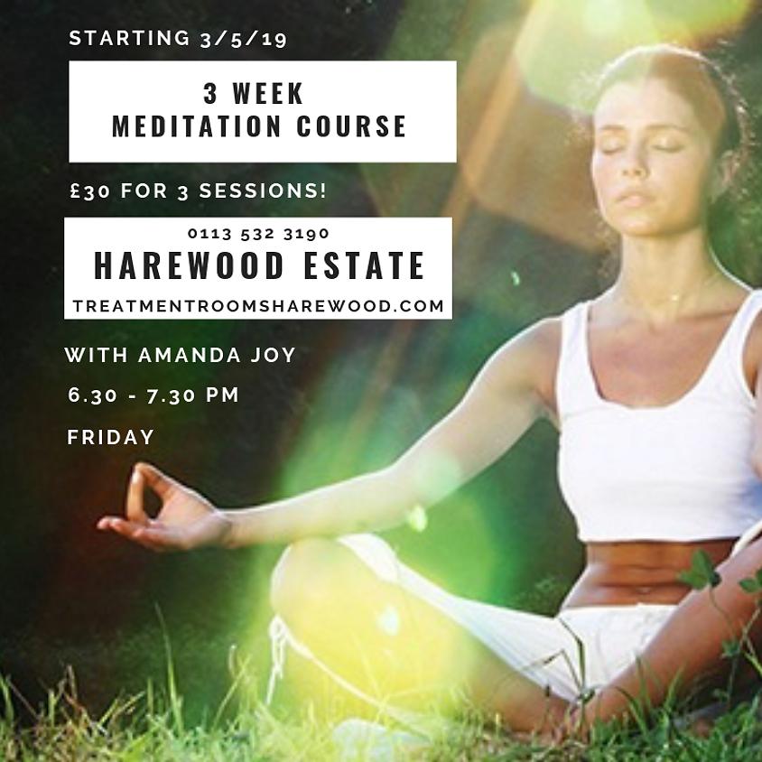 3 week Meditation Course 3/5/19