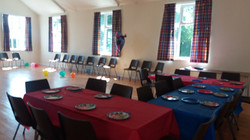 Main Hall set for a children's party