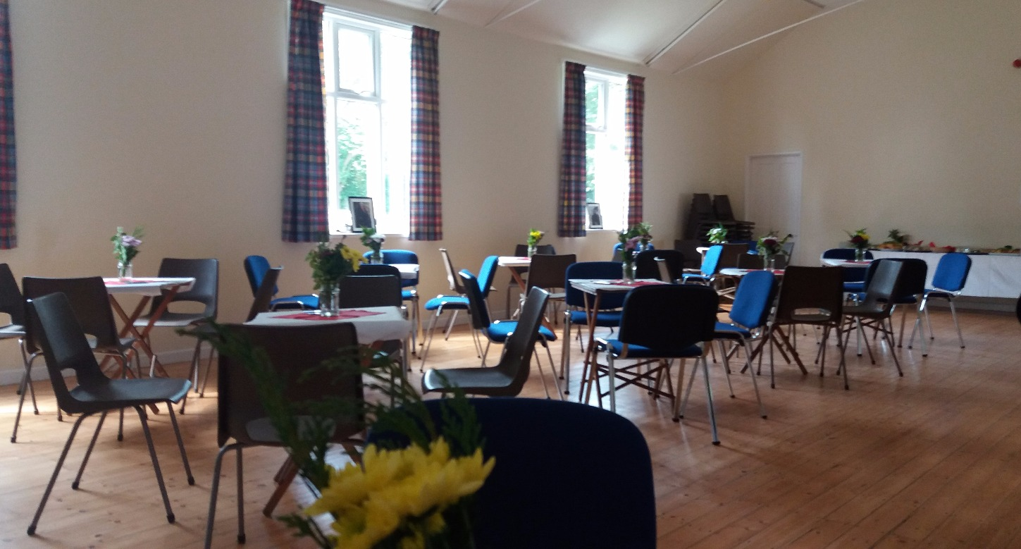 Main Hall set for catering