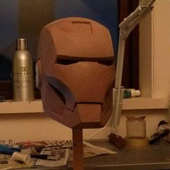Iron man helmet clay sculpt