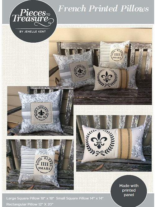 Downloadable Pattern - French Printed Pillows