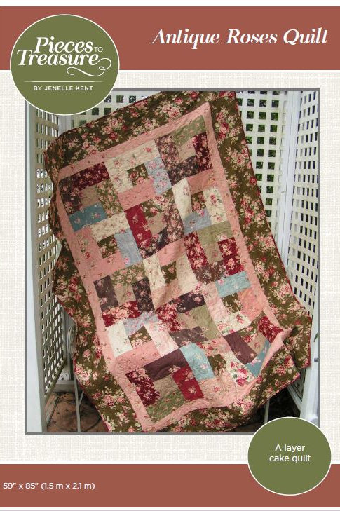 Downloadable Pattern - Antique Roses Quilt