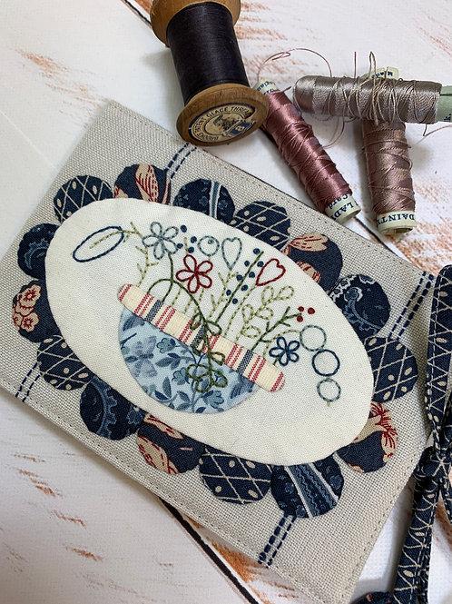 KIT - Bouquet Needlebook -Blue