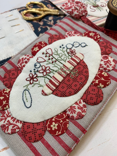 KIT - Bouquet Needlebook - Red
