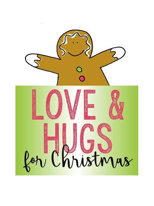 Kit - Love and Hugs Christmas Cushions