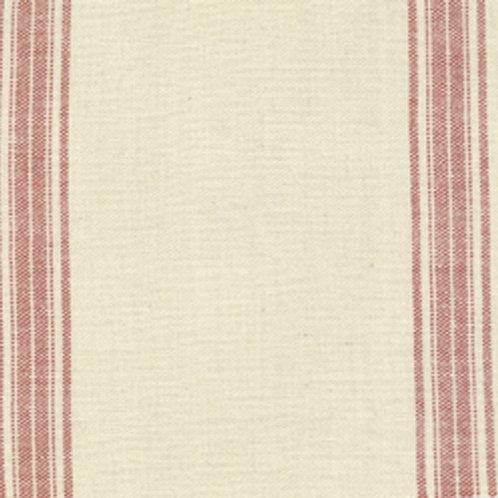 12553-46 Rural Jardin Toweling Natural Rouge