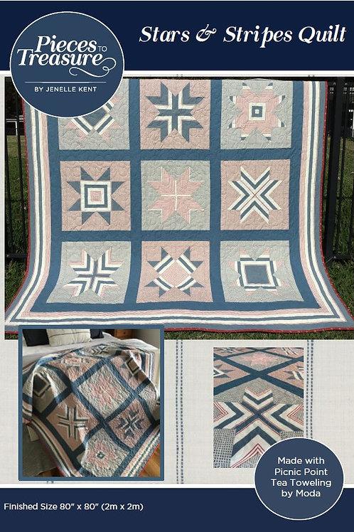 Pattern - Stars & Stripes Quilt