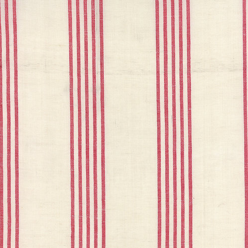 Linen Closet Toweling 920-229 Cream Red