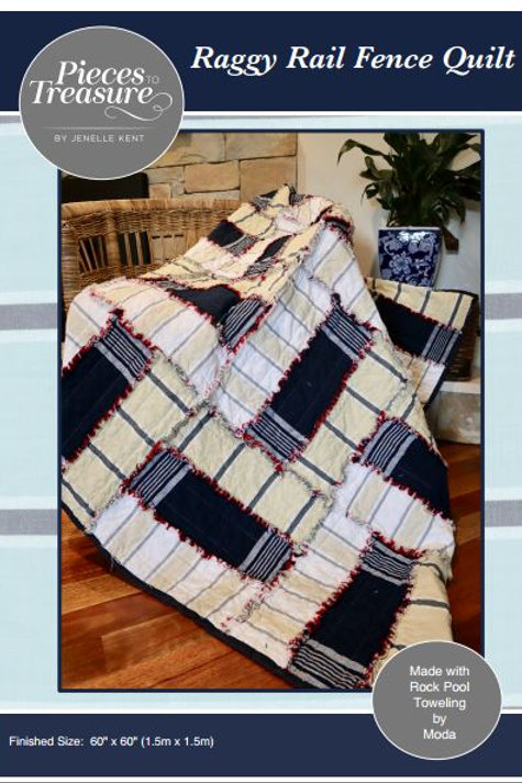 Downloadable Pattern - Raggy Rail Fence Quilt