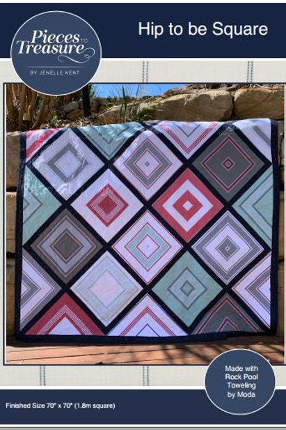 Downloadable Pattern Hip to Be Square Quilt