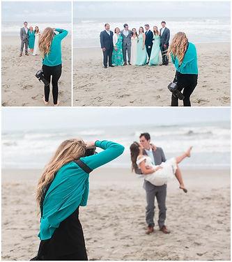 Carolin Martin Wedding Photography photographing a beach wedding in Corolla, Outer Banks