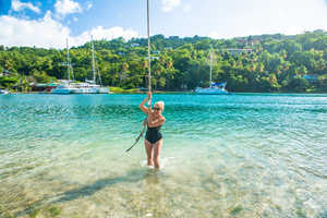 resort lifestyle photography at a resort in Saint Lucia, Caribbean