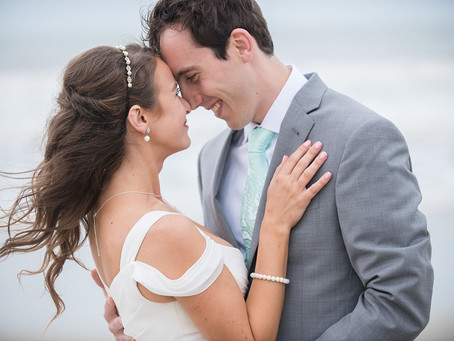Jess & Trevor's Outer Banks Beach Wedding - The Summer Moon - Corolla, NC