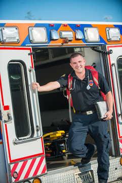 USAA Magazine ediorial portrait for Richmond Ambulance Authority