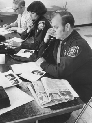Officers Man the Phones
