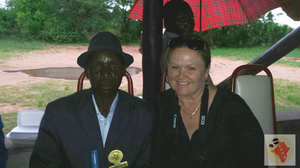 Lesley with the Chief of Musana