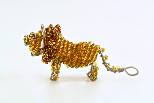Beaded Lion - Keychain