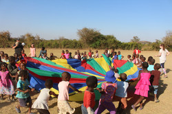 The little ones love the parachute